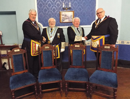 New Chairs for Rhymney Masonic Hall